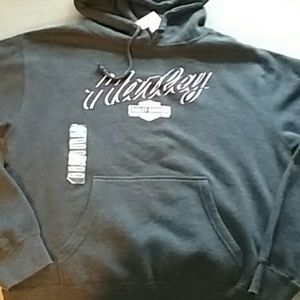 Harley-Davidson XL charcoal pink hoodie nwt